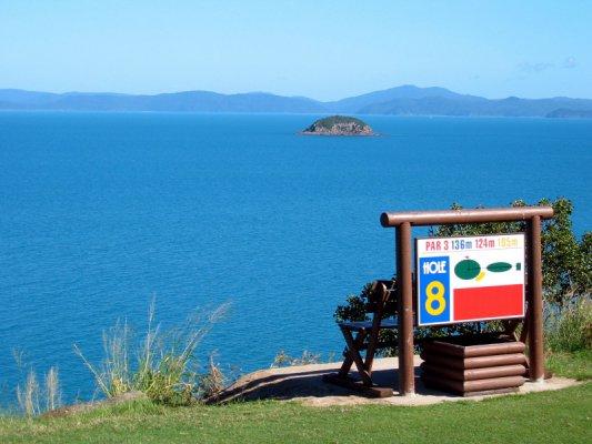 Hole No.8 on Lindeman Island golf course