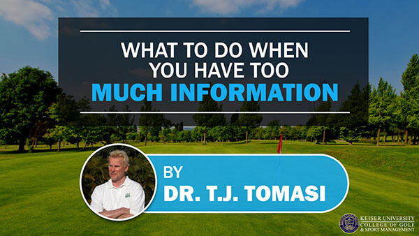 What to do when You Have Too Much Information