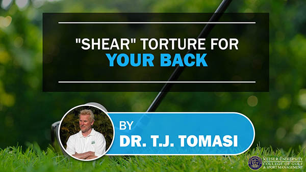 Shear Torture for Your Back