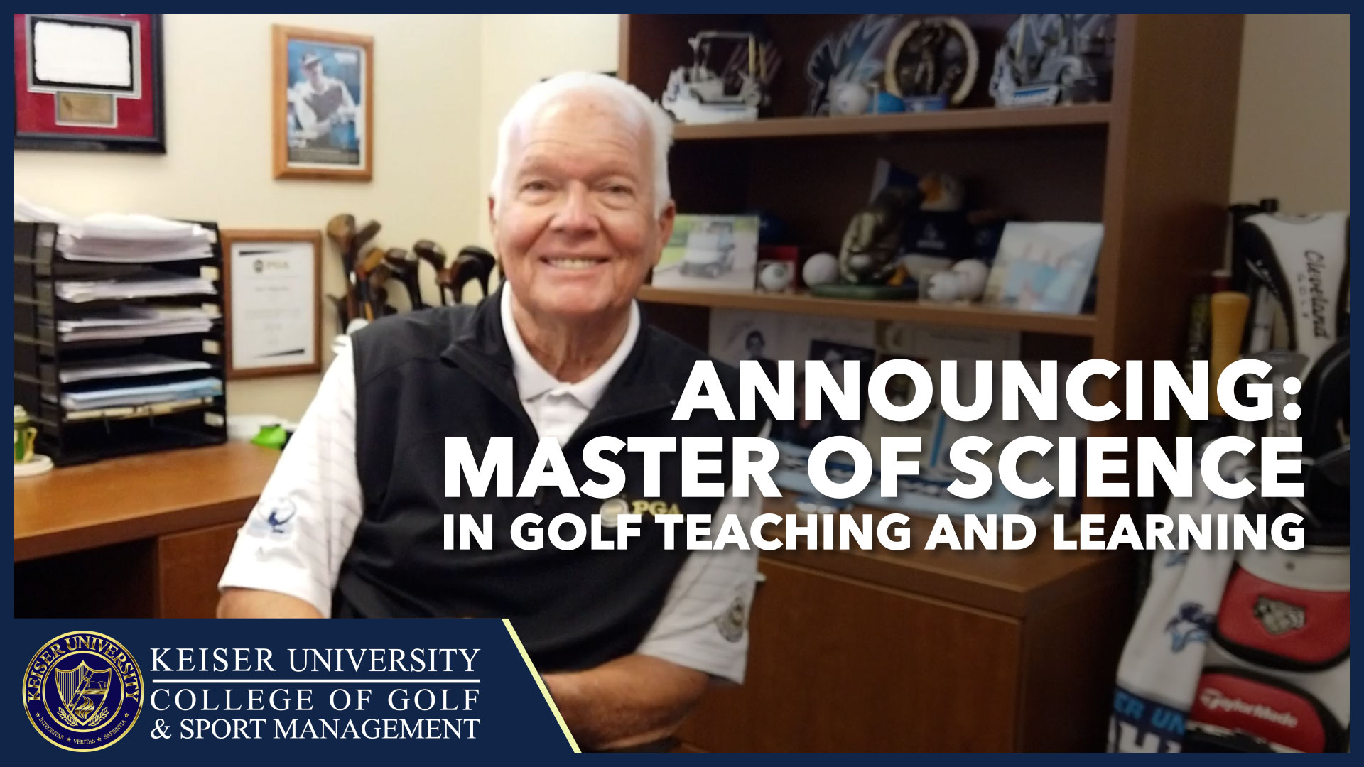 KEISER UNIVERSITY ANNOUNCES ONLINE MASTER OF SCIENCE DEGREE IN GOLF TEACHING AND LEARNING